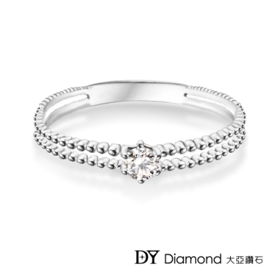 DY Diamond 大亞鑽石 L.Y.A輕珠寶 18K白金 簡約 鑽石女戒