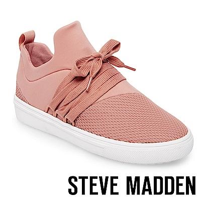 STEVE MADDEN-LANCER 網布拼接綁帶休閒鞋-粉紅