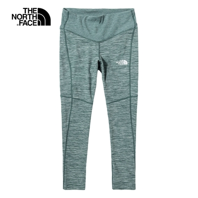 The North Face北面女款灰綠色吸濕排汗休閒緊身褲|5391HRM