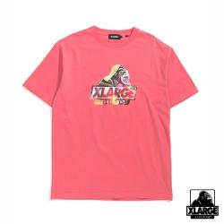 XLARGE S/S TEE INGREDIENTS SLANTED OG短袖T恤-粉