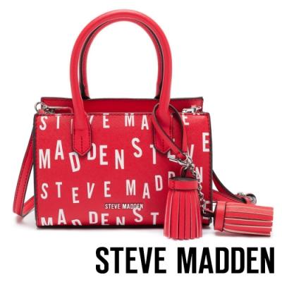 STEVE MADDEN-BCAPRI-經典SM手拿肩背兩用包-紅色
