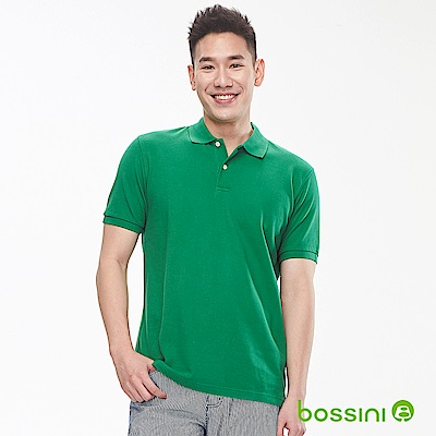 bossini男裝-純棉素色POLO衫19綠
