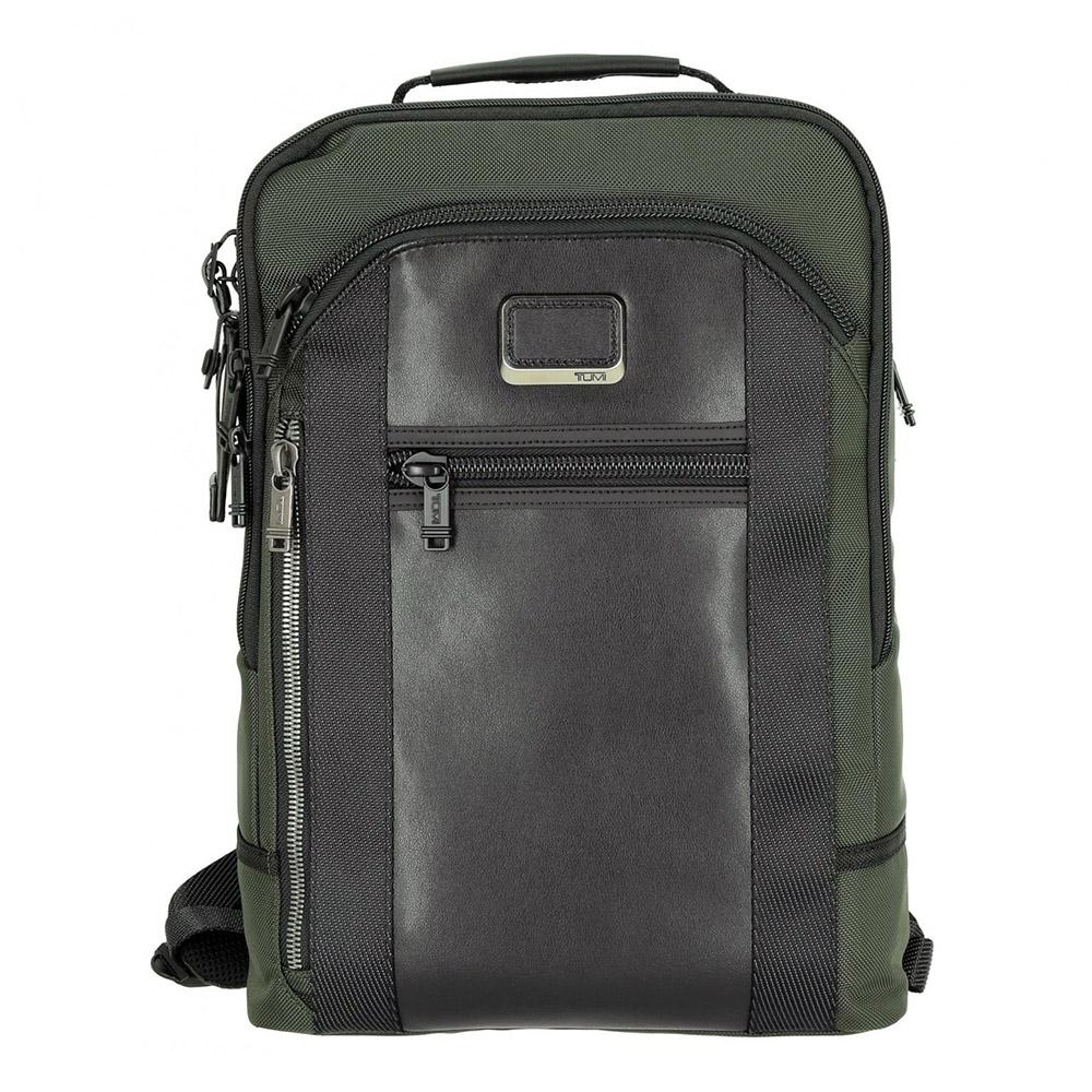 TUMI Davis系列電腦後背包-深綠X黑 (適用15吋筆電)
