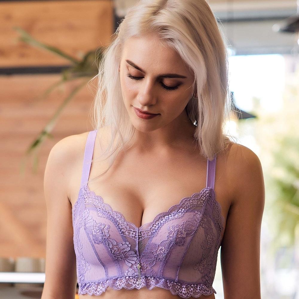 推EASY SHOP-花都璀璨 心機無鋼圈B-D罩內衣(優雅紫)
