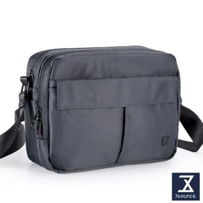 74盎司 U系列 雙層雙口袋側背包[G-1042-U-M]藍