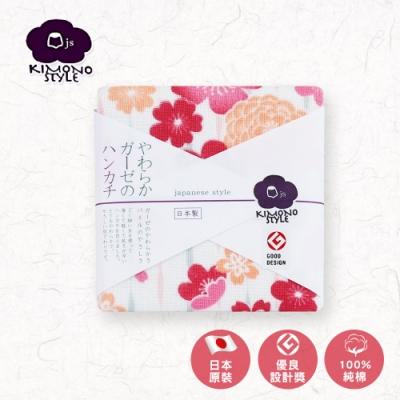【日纖】日本泉州純棉方巾-花簇30x30cm