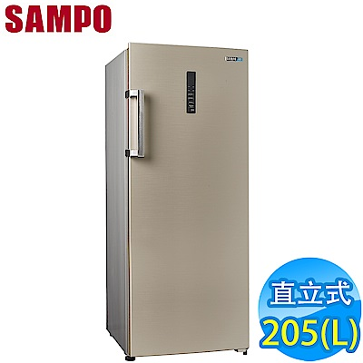 SAMPO聲寶 205L 直立無霜冷凍櫃 SRF-210F(Y) 流光金