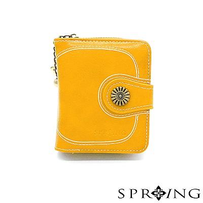 SPRING-日光系列-拉鍊式短夾-太陽黃