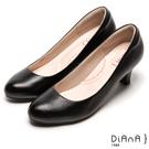 DIANA 漫步雲端輕盈美人C款-素雅真羊皮輕音制鞋-黑