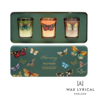 英國 Wax Lyrical 蝶舞3入香氛禮盒 Harmony Votive Candle Set  50g x 3