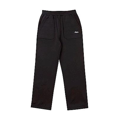 FILA KIDS 童 吸排針織長褲-黑 1PNS-8426-BK