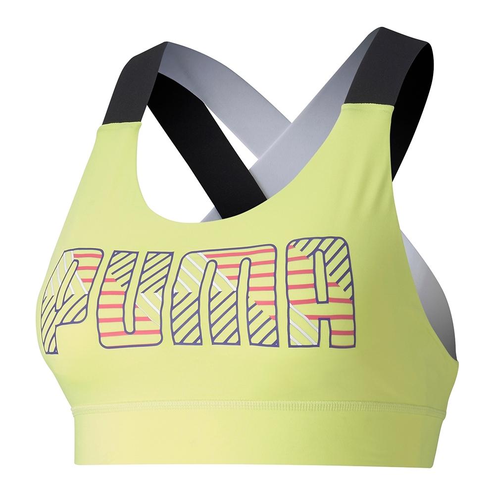 PUMA-女性訓練系列Feel It中衝擊運動內衣-陽光綠-歐規