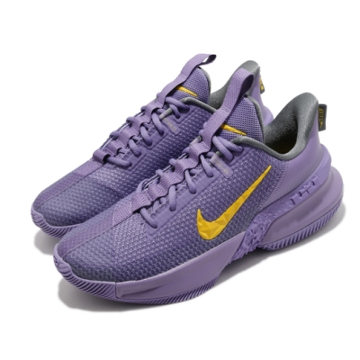 Nike 籃球鞋 Ambassador XIII 運動 男鞋 氣墊 避震 包覆 明星款 球鞋 穿搭 紫 黃 CQ9329500