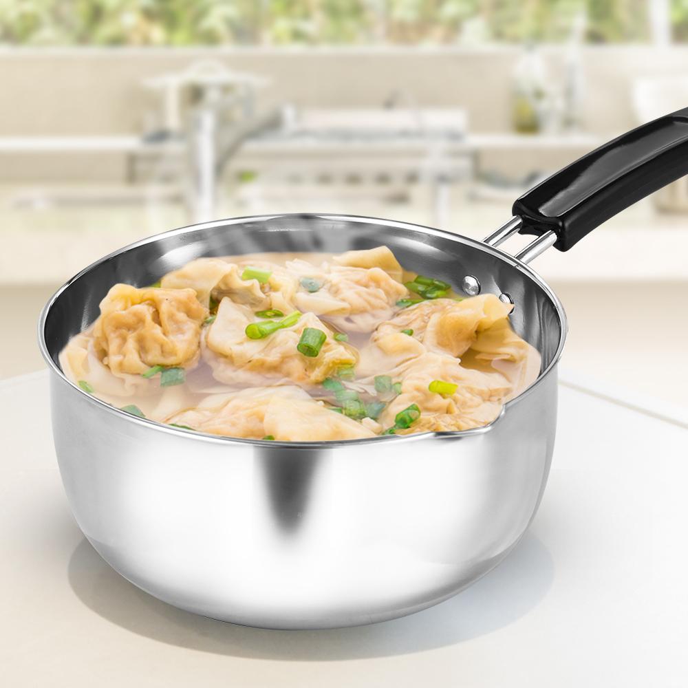 HIKARI日光生活 304不鏽鋼單把湯鍋18cm-H1255