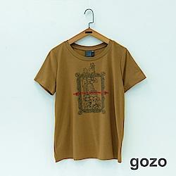 gozo 文藝圖印造型T恤(三色)