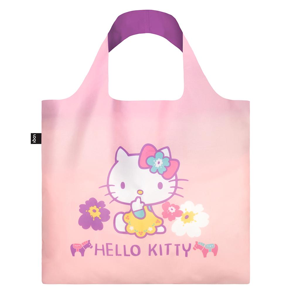 LOQI 購物袋-三麗鷗授權 (Hello Kitty 北歐粉紫 KT10)