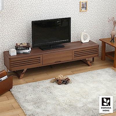 多瓦娜 貝爾格實木百頁6尺電視櫃-寬180深40.5高42.5公分