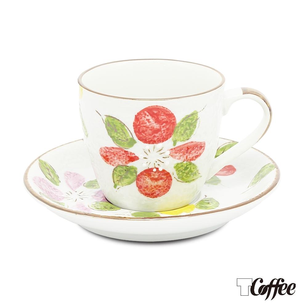 TCoffee MILA-日式手繪咖啡杯盤組 山茶花150ml