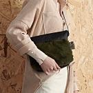 PORTER - 時髦微醺WINE O'CLOCK時尚毛絨斜肩包 - 綠