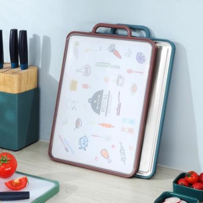 不鏽鋼+PP砧板 雙面切菜板/料理砧板 304不銹鋼砧板