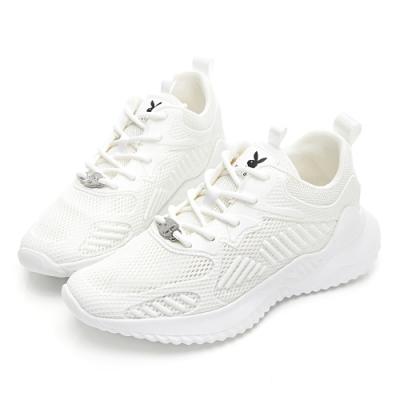 PLAYBOY 輕量漫步簡約綁帶休閒鞋-黑-Y583011