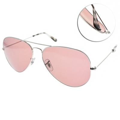 RAY BAN太陽眼鏡 王嘉爾聯名款/銀-粉紫鏡片#RB3025 0034R