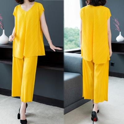 【韓國K.W.】特惠款唯美青春簡約設計純色套裝-3色