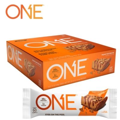 【美國 ONE Brands】ONE Bar 牛奶乳清蛋白棒 Peanut Butter(花生醬/12x60g/盒)