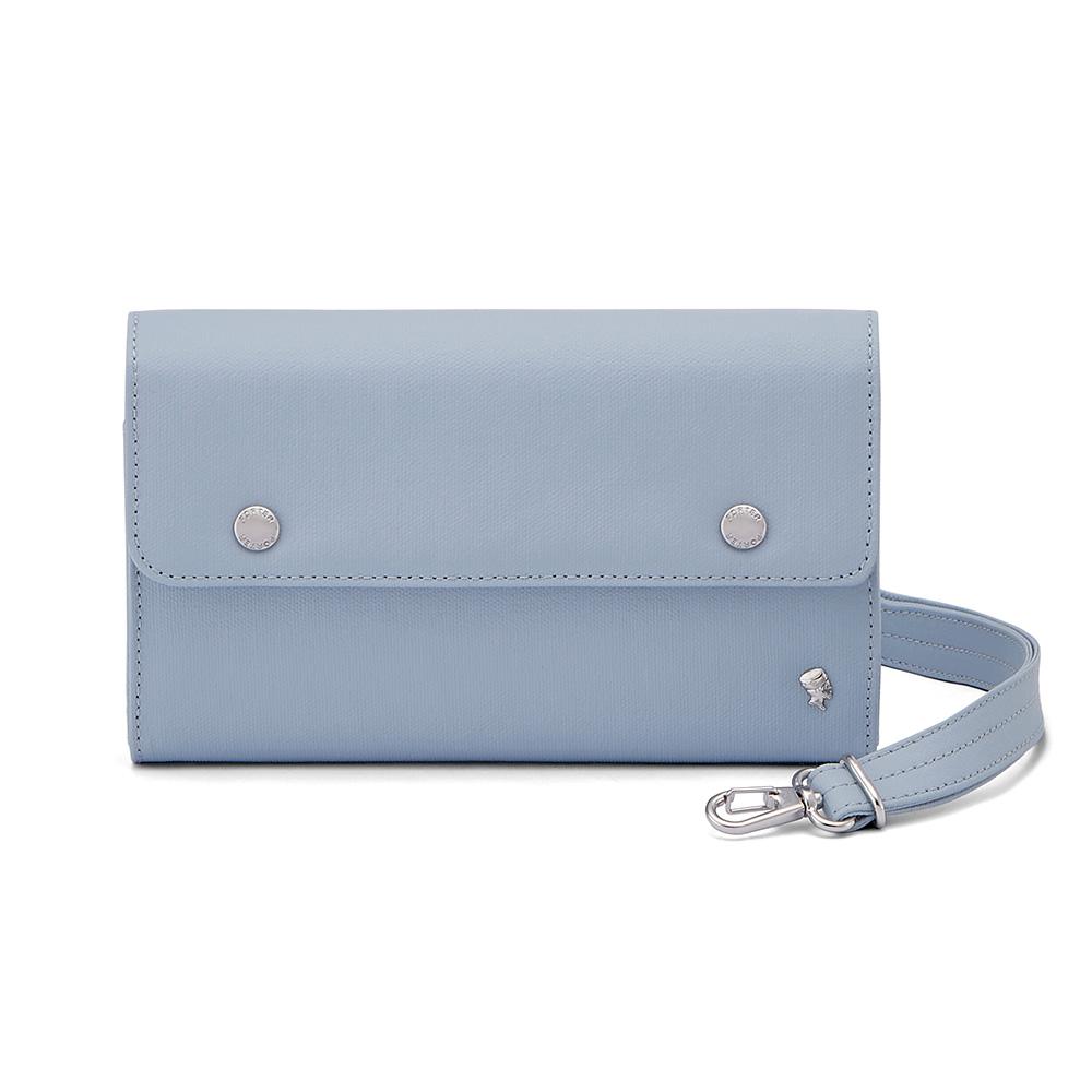 PORTER - 輕甜繽紛SPIRIT時尚隨身小包 - 粉藍(銀)