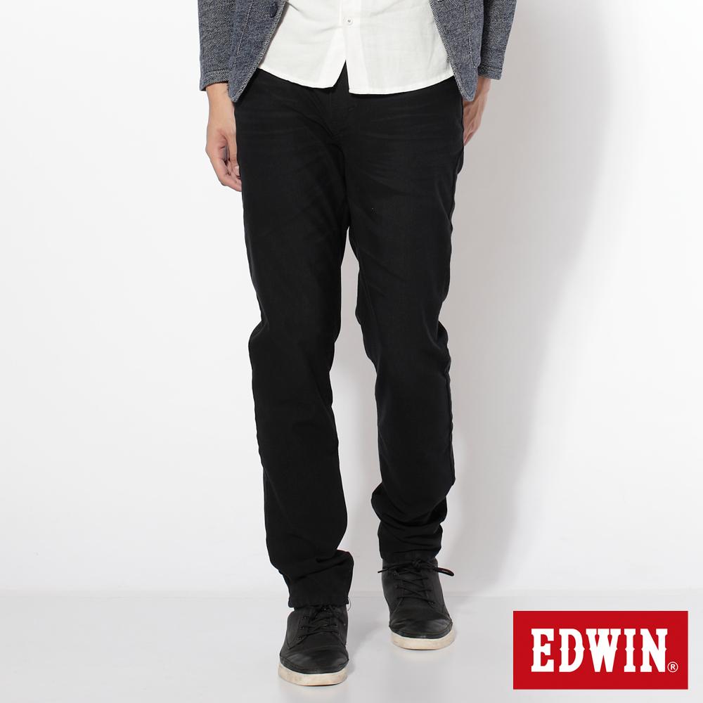 EDWIN AB褲 迦績褲JERSEYS圓織牛仔褲-男-黑色