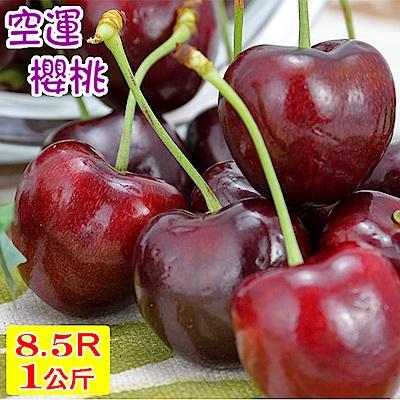 愛蜜果 空運美國加州櫻桃禮盒8.5R(約1KG/盒)
