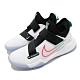 Nike 籃球鞋 Zoom Flight 運動 女鞋 氣墊 避震 舒適 包覆 球鞋 大童 白 黑 CK0787101 product thumbnail 1