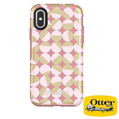 OtterBox iPhoneX炫彩幾何圖騰系列保護殼-瑰色儷影