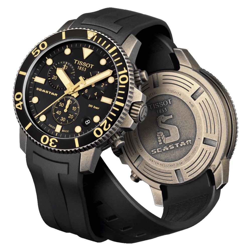 TISSOT 天梭 Seastar 1000 海洋之星300米潛水計時錶-45mm