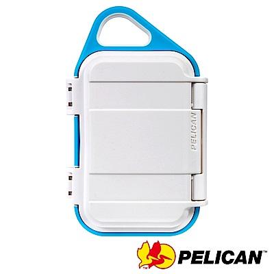 美國 PELICAN G10 GOCASE 微型防水氣密箱-(白藍)
