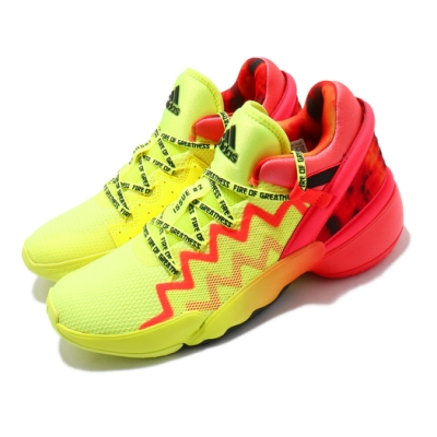 adidas 籃球鞋 Issue 2 GCA 男鞋 愛迪達 明星賽 避震 包覆 運動 球鞋 黃 紅 H67570
