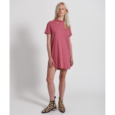 ONETEASPOON  COTTON DRESS 粉 連身洋裝-女