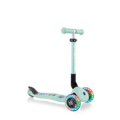 【GLOBBER 哥輪步】兒童2合1三輪折疊滑板車迷你(LED發光前輪)-共2色