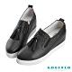 Robinlo 知性典雅鑲珠牛皮內增高休閒鞋 黑色 product thumbnail 1