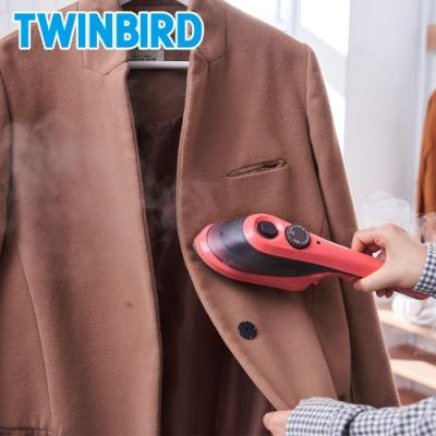(買就送5%購物金) 日本TWINBIRD-手持式陶瓷蒸氣熨斗-珊瑚橘SA-H201TWP