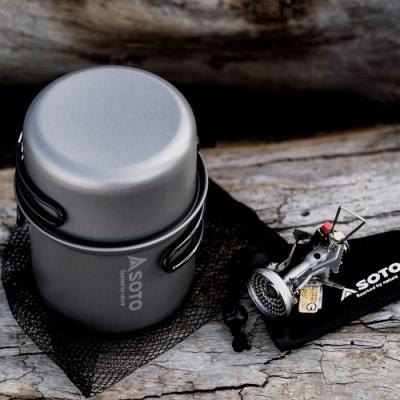 【索樂生活】SOTO攻頂登山爐組SOD-320CC 鋁合金鍋爐套裝 攻頂爐露營鍋 輕量鍋爐