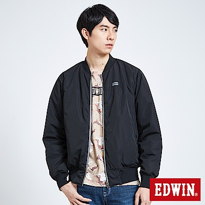 EDWIN 潮流機能 雙面穿反光舖棉外套-男-黑色