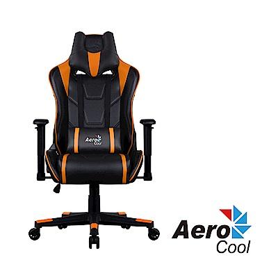 【Aerocool 愛樂酷 】AC220 AIR系列 競速超跑電競賽車椅(黑橘色)