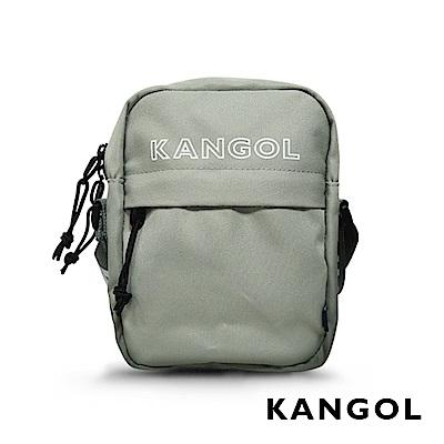 KANGOL LIBERTY系列 韓版潮流LOGO背帶小型側背包-淺灰 KG1194