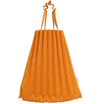 ISSEY MIYAKE 三宅一生 ME系列 沖孔伸縮摺疊樹幹購物包(柳橙)
