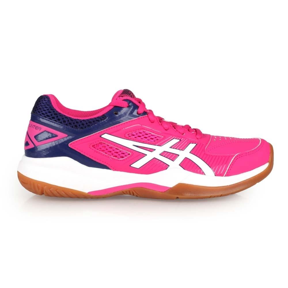 ASICS GEL-COURT HUNTER 女羽球鞋-2E-寬楦 亞瑟士 1072A015-500 桃紅丈青白