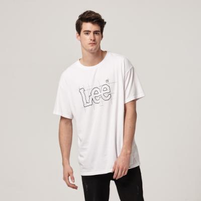 Lee短袖T恤 藍圖概念logo設計 白 男款