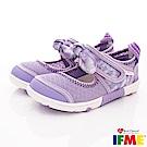 IFME健康機能鞋 蝴蝶結排水款 NI02002紫(中小童段)