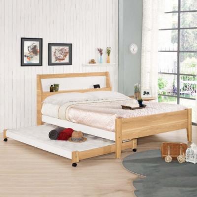 MUNA 卡爾5尺雙人床(含子床) 158X206X104cm