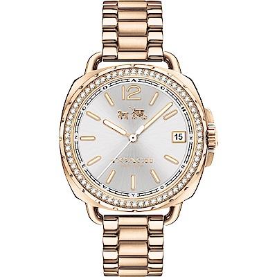 COACH Tatum 紐約星光晶鑽優雅女錶(14502590)-玫瑰金/34mm